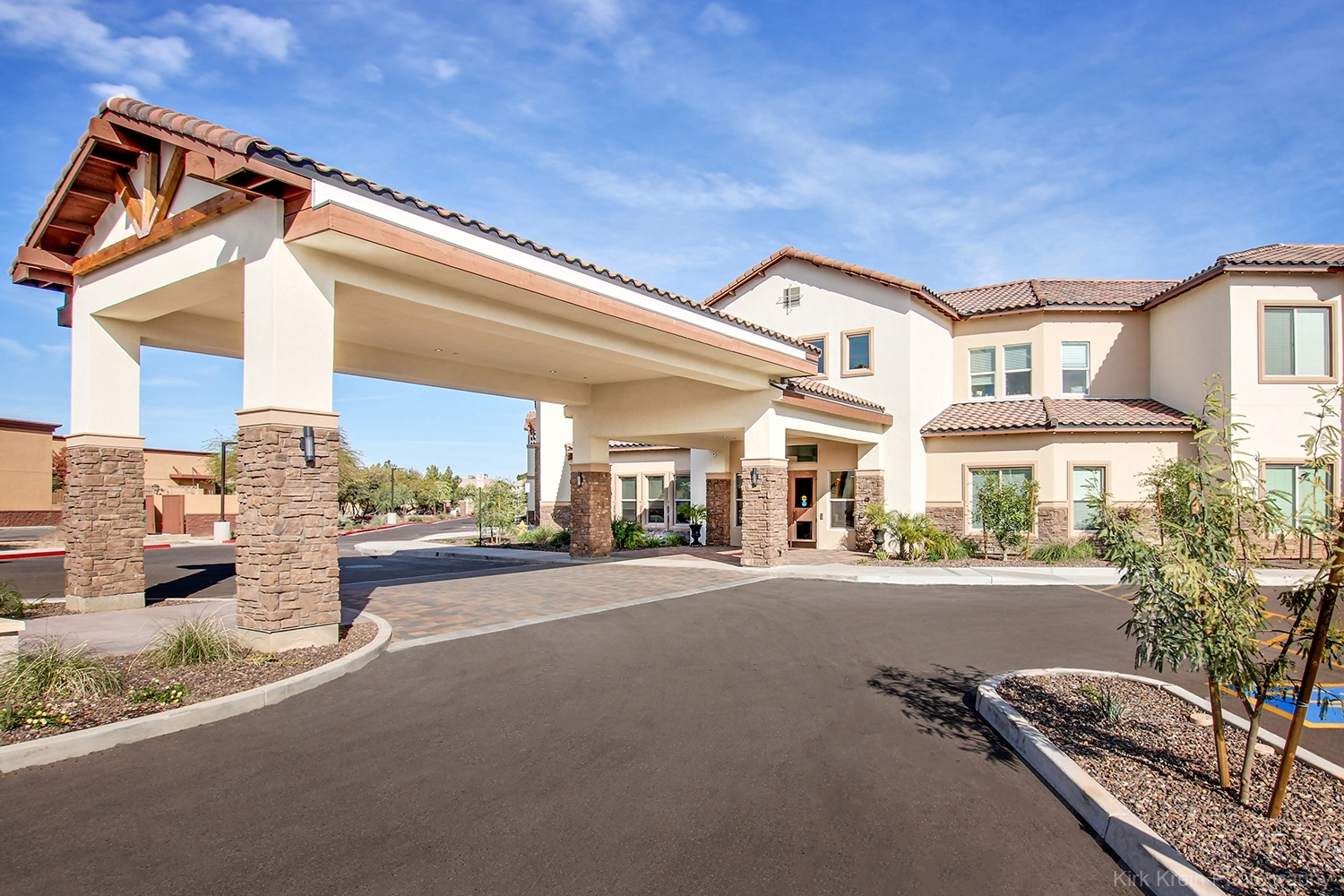 Assisted Living Facility, Architectural and Commercial Real Estate Photography by Kirk Krein, Phoenix, AZ - East Valley and Beyond! Mesa, Gilbert, Chandler, Tempe and Scottsdale AZ.