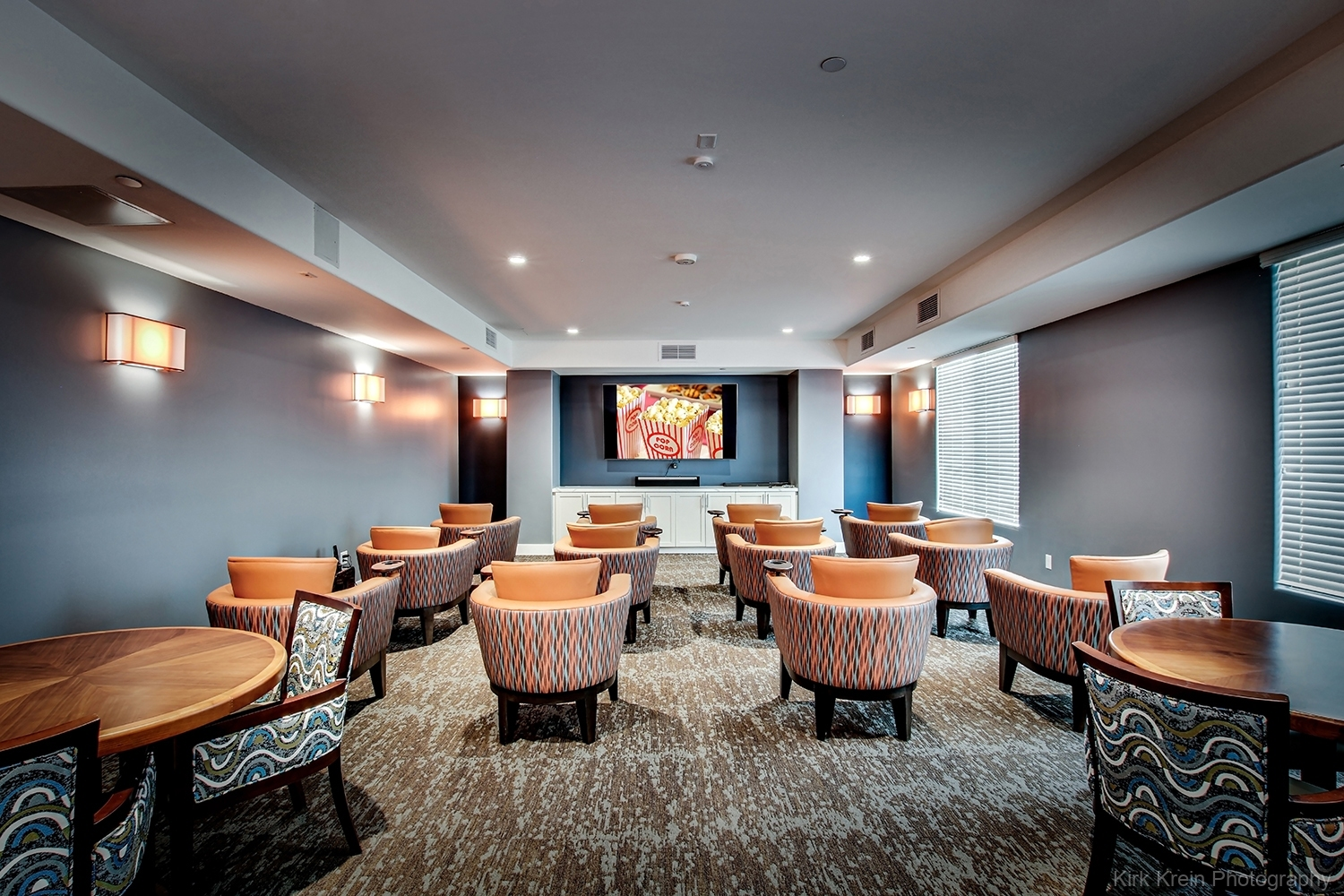 Theater Room, Assisted Living Facility - Phoenix Architectural and Commercial Real Estate Photography by Kirk Krein, Phoenix, AZ - East Valley and Beyond including Mesa, Chandler, Gilbert, Tempe and Scottsdale, AZ