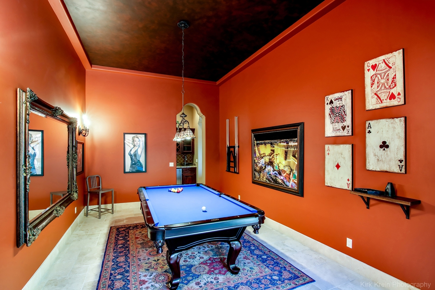 Billiard Room - Architectural and Commercial Real Estate Photography by photographer Kirk Krein, Phoenix, AZ & East Valley